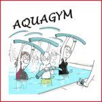 Dessin de personnes à l'aqua-gym